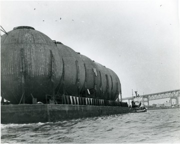 Storage tanks from Morgantown Ordnance works located at the mouth of the Mississippi River.