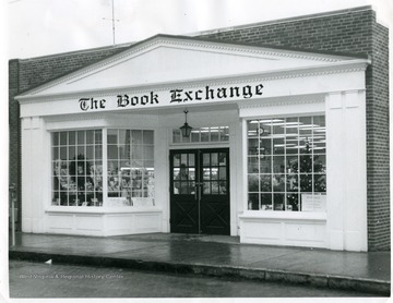 Christmas shoppers are shopping at the Book Exchange in Morgantown, West Virginia.