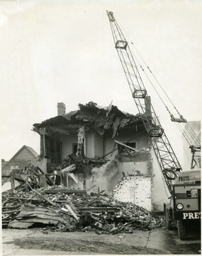 Buildings being demolished to make room for a parking lot, Morgantown, W. Va.