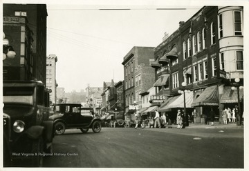 A view of High Street in Morgantown, West Virginia. This photograph was taken before 1927.