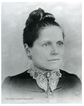 A portrait of Ella Brown Moreland, the wife of Joseph Moreland of Morgantown, West Virginia.