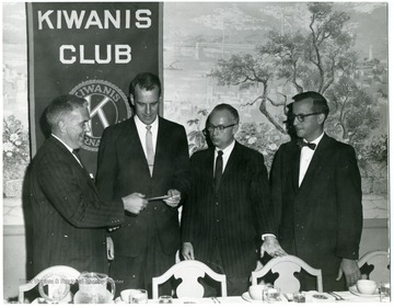 From left to right: unknown, unknown, Donovan H. Bond and Eugene L. Staples.