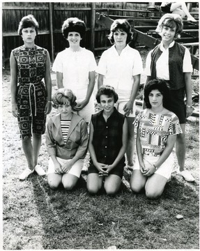Top row, left to right: Jane McClung, Mary Frances Duffer, Jane Taylor and Mary Beth Quigley.  Bottom row, left to right: Judy Haley, Teresa DeAngelis and Mary Ann Sellaro.