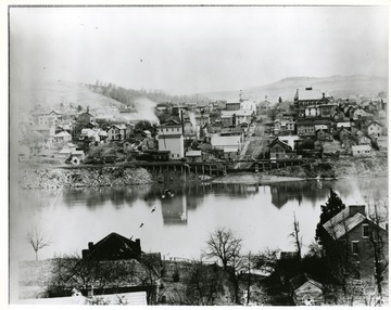 A view of Morgantown and the Wharf.