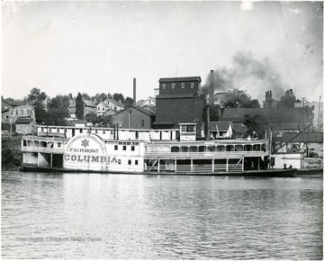 Steamboat Columbia on the Monongahela River.