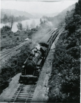 B&O train number 66, last train through Morgantown on Saturday, September 21, 1953.