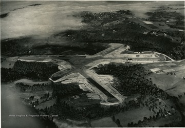 An aerial view of the Municipal airport. Print number 1234.