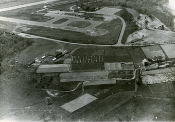 An aerial view of the Morgantown airport.