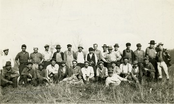 Morgantown Airport Project. The original crew of workmen (less 2) on the first day, November 6, 1935.