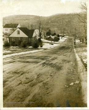 A view of an unidentified street in Morgantown, West Virginia.