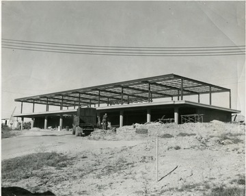 Terminal building framework under construction.