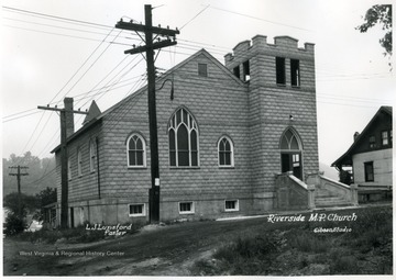 View of the Riverside Methodist Protestant Church at the time L. J. Lunsford was residing pastor.