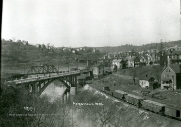 A view showing Westover Hill, Decker's Creek, University Avenue, and the Westover Bridge.