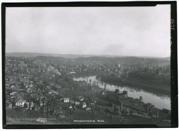 'A view of Senecca Addition and Morgantown, West Virginia - east side brick yard in lower right.'