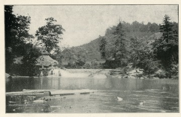 'Plate XI. - Showing Falls in the Little Kanawha River at Falls Mill, Braxton County, exposed ledges in Allegheny Series.'