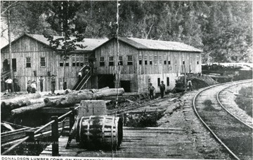 Donaldson Lumber Company on the Greenbrier River at Woodman W. Va.