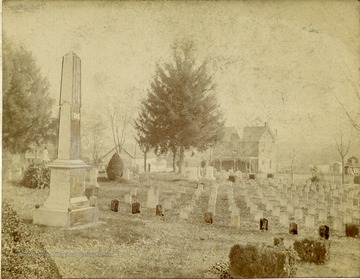 View of monuments and headstones at the Confederate Cemetery in Jefferson County. The cemetery was established in 1867.