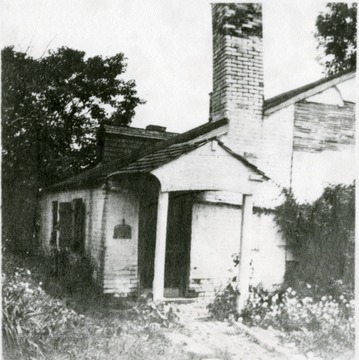 Rear view of the old Sheetz house.