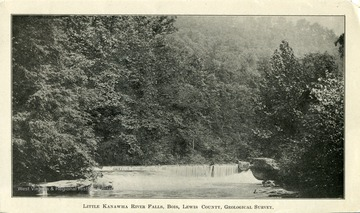 A view of Little Kanawha River Falls in Bois, Lewis County, West Virginia. This photograph was part of the Geological Survey.
