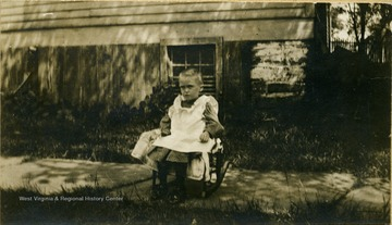 Helen Houston Ballard at age 4, after a bout with typhoid fever.