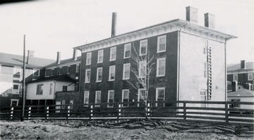 A view of the old Sweet Springs Sanitorium, now the Andrew Rowan Memorial Home.