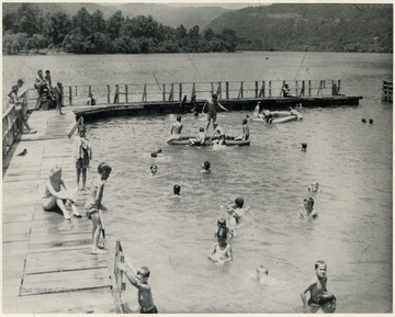 'Ole swimmin hole,' Camp Brookside in New River near Hinton.