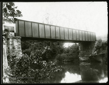 View of railroad bridge in Taylor County.