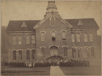 Hinton's first brick school.