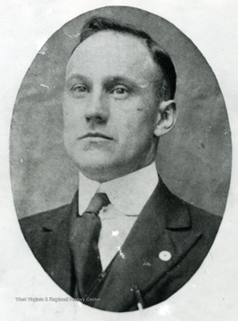 A portrait of W.C. Cooper, possibly the President of Board of Education Fork Lick District, Webster County, West Virginia.