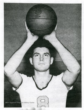 Portrait of All American Leland 'Lefty' Byrd, member of the West Virginia University Basketball Team.