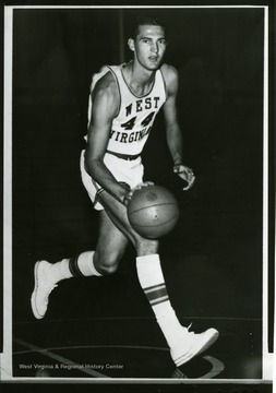 West was an outstanding player for the Mountaineers and is a member of Pro Basketball's Hall of Fame.