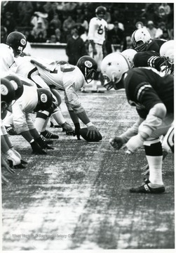 University of Richmond quarterback prepares to take the snap.