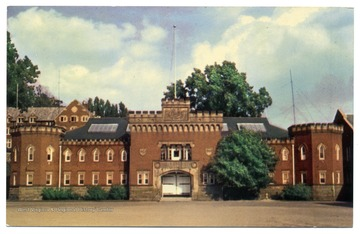 'More than 1500 men take training each year in either Air or Army ROTC in the University Armory, built in 1902.  The drill field in front of the Armory is used for military parades.'
