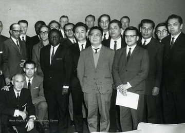 Standing second back row, Dr. Harry Heflin; Standing fifth back row, Dr. Robert Munn.