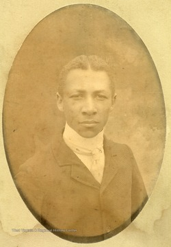 Portrait of African-American student, Charles Sumner.