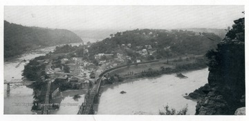 View of Storer College campus and Harpers Ferry.