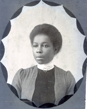 Portrait of a female African-American student from Storer College, Class of 1900.