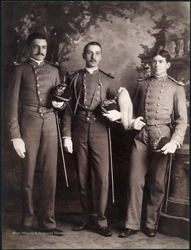 From Left to Right: John Wiley Francis, A.B. 1892; William Charles Meyer, A.B. 1893; A. Brown Smith, A.B. 1893.