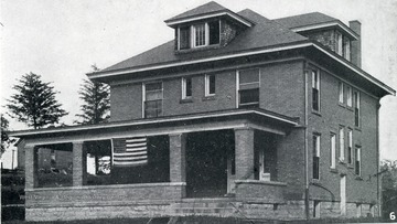 Pictures of WVU Fraternity Houses included: Phi Kappa Sigma; Phi Kappa Psi; Sigma Chi; Beta Theta Pi; Phi Sigma Kappa; Kappa Sigma; Sigma Nu; Kappa Alpha; Delta Tau Delta and Sigma Phi Epsilon.  See original for details.