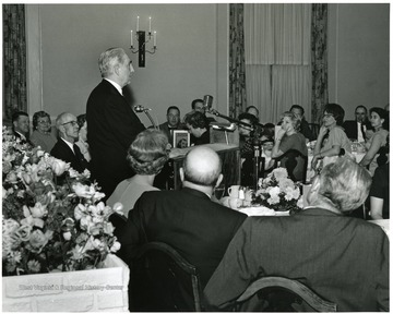'Dr. William C. Steere, director of the New York Botanical Garden, speaks at Authors' Banquet of May 11, 1967.