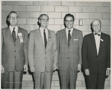 2nd from left: Dr. Irvin Stewart, 3rd from left: Gov. Underwood.