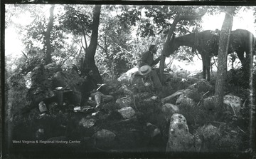 '181.D.(107); August 8, 1884, Friday 1-35 pm; Dinner on rocks. 2nd Negative'