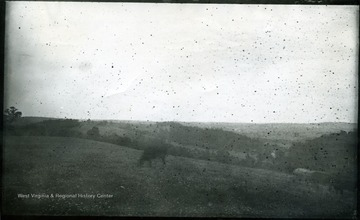 View G.N.E. from rear of Gordon's position.  Strasburg in distance.  87 D (53) Monday July 28, 1884 5 p.m.