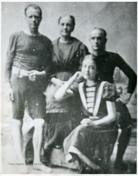 Aretas Brooks and Carrie Watson Fleming & their twins, George and Virginia.