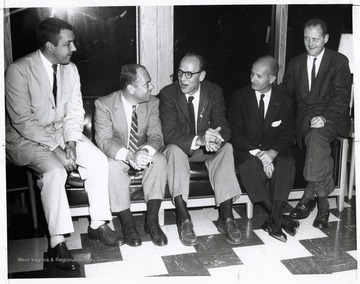 A photograph of Senator Hoblitzell (second from right) and Stanley Cox (left) seated with others. State Republican Executive Committee.