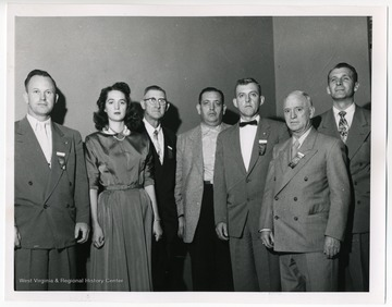 Left to right: Guy Hoffman (6th District), Ruth Ann White (5th District), William J. Staddon (2nd District), James Q. Papas (4th District), Allen Hudkins (4th District), C.V. Baughman (1st District), Rene Zabeau (3rd District).