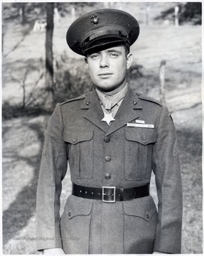 "Williams served in the Marines and  was awarded the Medal of Honor for his ""actions above and beyond the call of duty"" in the Battle of Iwo Jima during World War II."