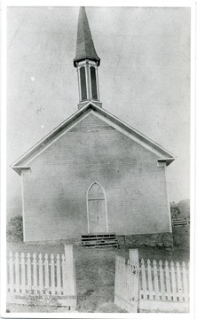 The church is located off First Street Bridgeport, W. Va.; it is now remodeled as an apartment building.