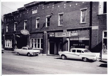 The Ford Garage is on East Main Street in Bridgeport, W. Va.; the Bell Studio is to the right and John Utt building is demolished in 2008.