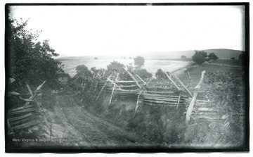 A view of Antietam, Bloody Lane looking south east from the first corner near, likely to be, the Cupp house.  99.D.I.C.